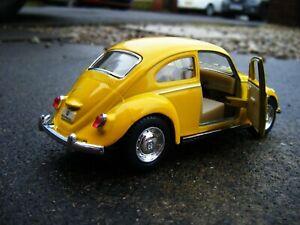 VW BEETLE YELLOW TOY MODEL CAR IDEAL GIFT COMPANY DESKTOP DISPLAY ITEM NEW