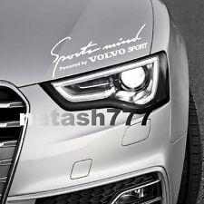 Sports Mind Powered by VOLVO Sport Racing Decal sticker emblem logo WHITE