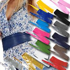 Cintura FUSCIACCA Donna FASCIA LARGA argento oro rosso blu nero bianco art D0285
