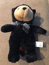 "Fiesta 10.5"" Halloween Costume Black Cat Bear Plush (KC)"