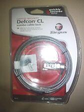 NIB Targus LapTop Security Lock DEFCON CL Combo Cable Lock 6 Feet