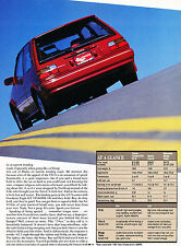 1987 Toyota Corolla FX16 GT-S GTS Original Car Review Print Article J366