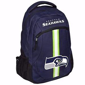 NFL Seattle Seahawks  Logo Action Backpack ( School, Work,Travel)