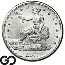 1876-S Trade Dollar, Highly Desired Silver Dollar Series, White Collector Type!