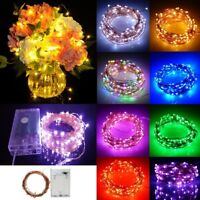 2/5/10M LED Mini Fairy String Light Waterproof Copper Wire Battery Operated Lamp