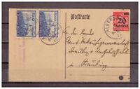 Deutsches Reich, MiNr. 280 + 261 Aldersbach nach Straubing 05.09.1923