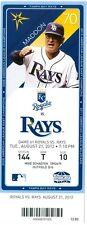 2012 Rays vs Royals Ticket: Kelvin Herrera got his first major league victory