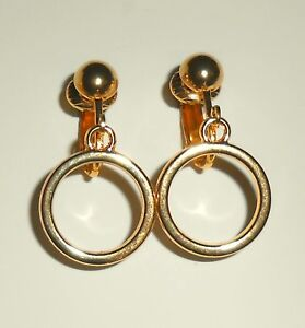 MINI HOOPS GOLD PLATED CLIP ON EARRINGS (or hooks)