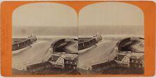 Dieppe Les Jétées France Photo Neurdein Stereo L5n58 VintageAlbuminec1870