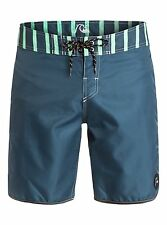Quiksilver Men's Wasted Boardshort Size 38 Dark Denim Blue Beachwear Trunk NWT