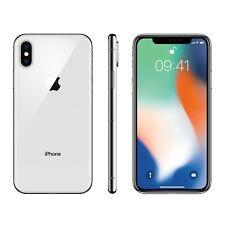 New Sealed Apple iPhone X 256GB Factory Unlocked Silver - 1 Year Apple Warranty