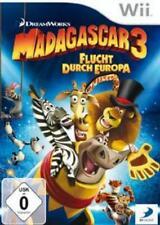 Nintendo Wii WII-U Madagascar 3 fuga attraverso l'Europa Condizione Top