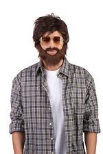 HANGOVER WIG & BEARD SET ADULT FANCY DRESS ACCESSORY