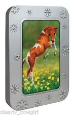 #8573 -- TREE FREE ECO HORSES BLANK NOTE CARD SET EMBOSSED GIFT TIN (12) -WOW!