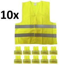 10-PACK Yellow Reflective Safety Vest, Class 2, High Visibility, XL/XXL Size