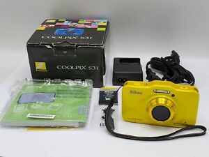 Nikon Coolpix S31 10.1 MP Waterproof Shockproof Digital Camera - Yellow