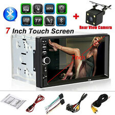 "Double 2DIN 7""Car HD Stereo Bluetooth Radio MP5 Player FM USB/TF AUX Camera GO#"