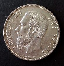 Belgique - Léopold II - Près de Superbe de 5 Francs 1873 - avec Variété double 3