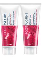 AVON Footworks Vanilla Berry Foot Exfoliating Scrub + Moisturising Cream Set New