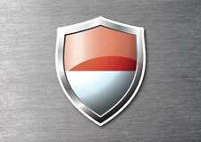 Indonesia flag shield sticker 3d effect quality 7 year water & fade proof