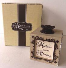"""Pavilion Gifts Modeles """"Mother"""" 4.75"""" Square Tea Light Holder #88001"""