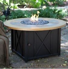 Patio Fire Pit Table Outdoor Gas Fireplace Propane Heater Cover Deck Furniture