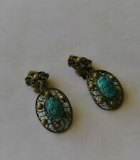 Turquoise Stone Natural Costume Earrings