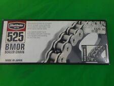 NOS BIKEMASTER 525 BMOR Sealed Oring Chain 525 X 130 Black / Chrome 197264