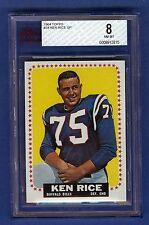 1964 Topps Football Ken Rice #34 SP Buffalo Bills BVG 8