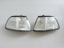 For 1990 1991 90-91 3Dr Civic Chome Corner Lamp Light Lh Rh Pair 4Th