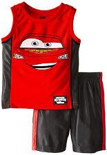 NEW Disney Cars Dazzle Lightning McQueen Toddler 2 Piece Short Set 2T Red Black