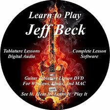 Jeff Beck Guitar TABS Lesson CD 45 Songs + Backing Tracks + BONUS!!