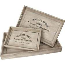 Set of 3 General Farmers Market Serving Trays With Handles