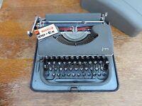 Antik Schreibmaschine Marke Japy in Metalldose Deco Loft Sammlung