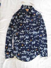 Preowned Men's Vintage Polyester Shirt Size Small 14 - 14 1/2 Zayre Matt Andrews