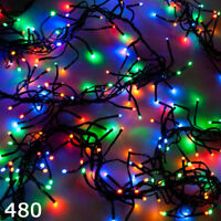Super Bright 240 LED Multicoloured Christmas Cluster Light 8 Mode Indoor Outdoor