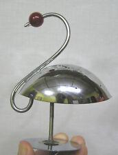 Vintage Chrome Stylized Swan Art Deco Hors Doeuvres Pick Holder