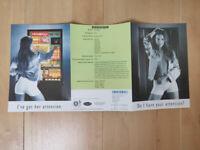 "Maygay ""Monopoly"" Arcade SWP Fruit Club Machine A5 Sales Flyer"