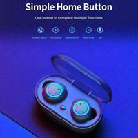 W12 Bluetooth 5.0 Mini Earphones Earbuds Headphones TWS Headset Wireless O8Y7