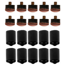 New listing 10 pieces 12 mm screw-on billiard pool cue tips with 10-piece cue