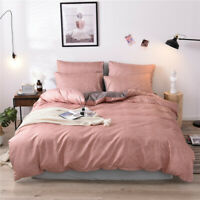 4X Duvet Cover with Pillowcase Quilt Cover Bedding Set Single Double Super   !*