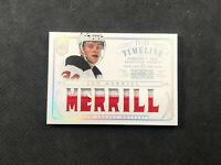 2013-14 PANINI NATIONAL TREASURES JON MERRILL ROOKIE TIMELINE JERSEY #ed 36/50