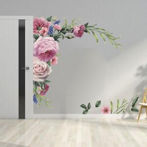 Home Sticker Nursery Wall Decal Wall Sticker Peony Rose Flower Decor Art Mural