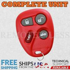 Keyless Entry Remote for 2001 2002 2003 2004 2005 Chevrolet Malibu Car Key Red