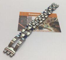 Bracciale acciaio con pietre blu originale Swatch lungo 16,5 cm attacchi 16 mm