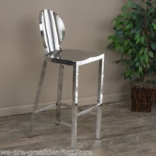 Modern Design Round Backrest Stainless Steel Bar Stool