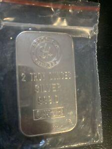 2 troy Ounces  .999 silver