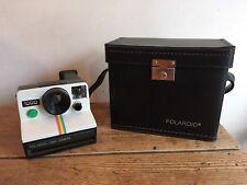 """De Colección Cámara Polaroid"""""""" 1000 Land & Estuche De Cuero-en muy buena condición!"""