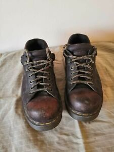 VINTAGE MADE IN ENGLAND DR MARTEN BROWN SHOES, 8321/34, SIZE 9, AIR WAIR