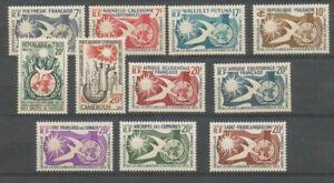 1958 Afrique 10ème anniv Déclaration droits de l'homme Série 11 Timbres H2507